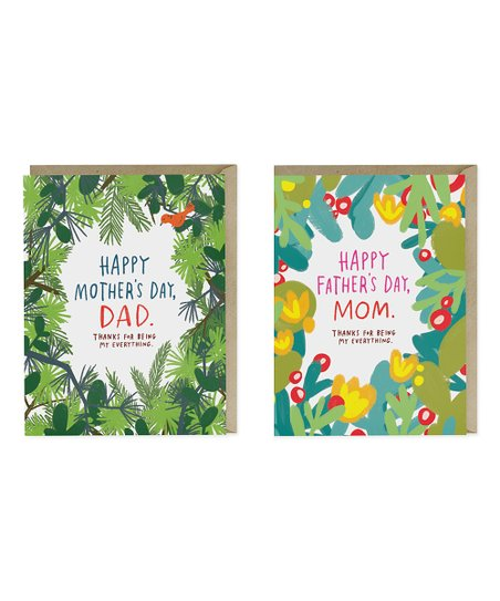 Emily McDowell & Friends Father's Day Mom & Mother's Day Dad Card Set