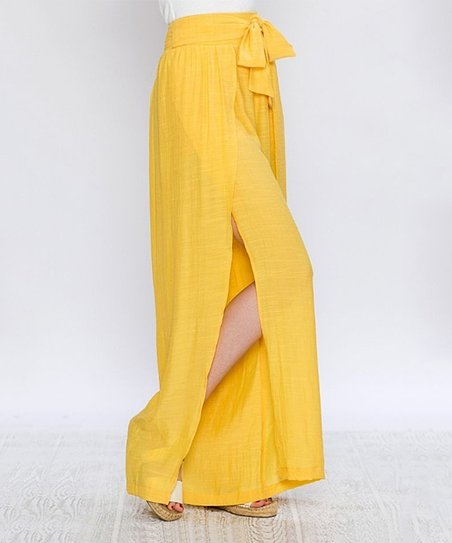 efacf560ef6b love this product Yellow Palazzo Pants - Women