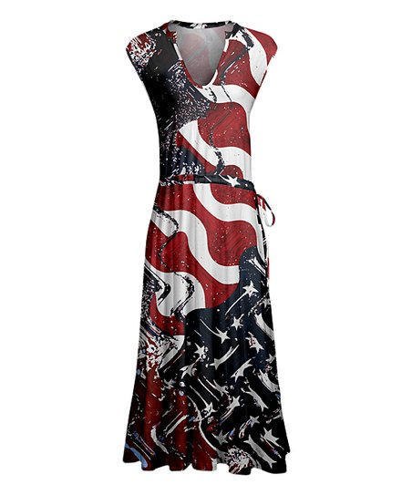 ba7a1fee426 love this product Red   Blue Patriotic Maxi Dress - Women