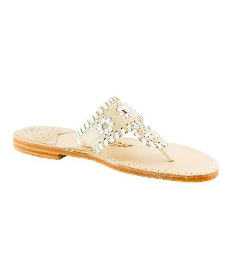Palm Beach Sandals Chanel   White Palm Beach Classic Leather Sandal ... eaabd5bc07