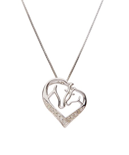 Diamond Accent Horse Mom Child Pendant Necklace Zulily