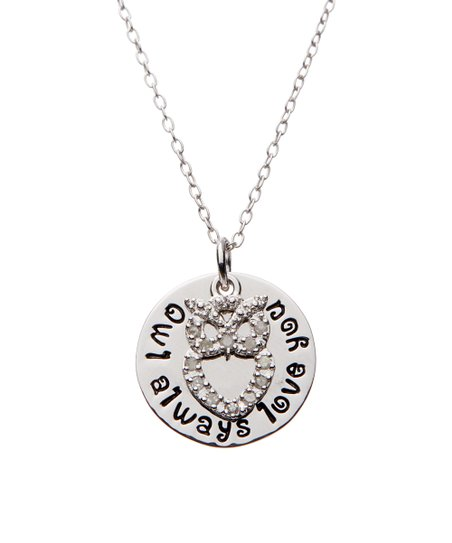 Diamond Accent Owl Always Love You Pendant Necklace Zulily