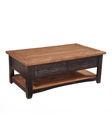 Antique Coffee Table.Sandberg Furniture Antique Black Honey Santa Fe Coffee Table