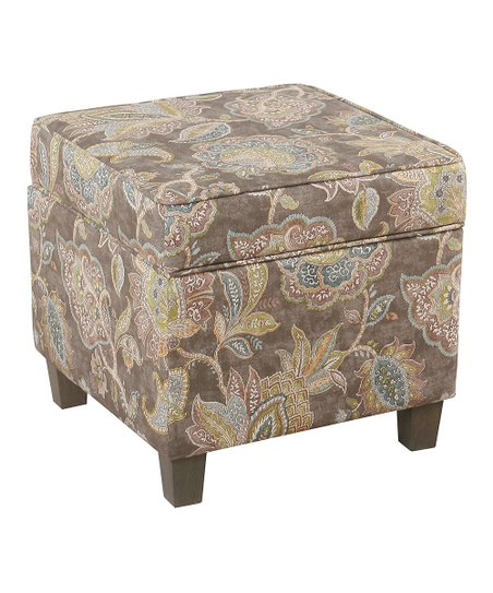 Astonishing Homepop Gray Floral Square Storage Ottoman Zulily Gmtry Best Dining Table And Chair Ideas Images Gmtryco