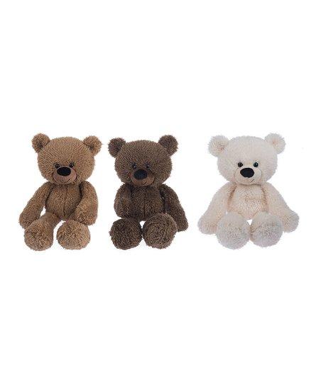 7a7d9cc18 GANZ Bear Plush Toy - Set of Three | Zulily