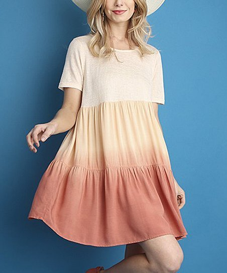 b8bd77e0a07 love this product Peach Ombré Tunic Dress - Women