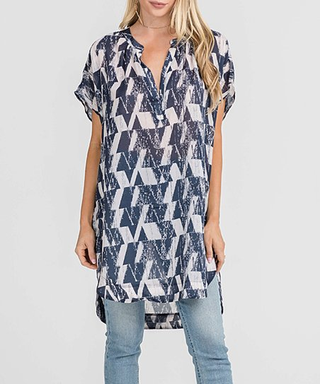 767678bcdf1 love this product Taupe   Navy Tunic - Women