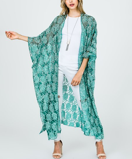 49ccd24510537b Frumos Jade Long Lace Cardigan - Women | Zulily