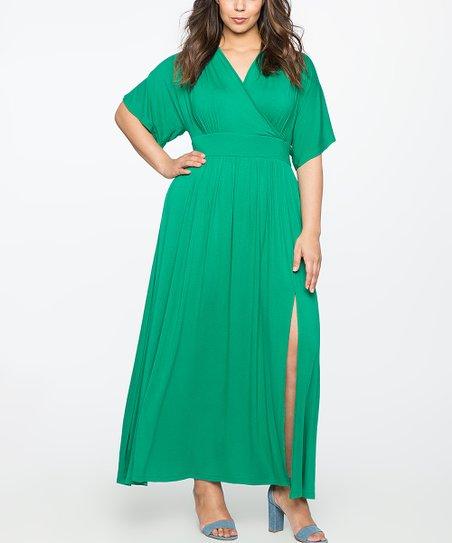d1b58d6acf9 ELOQUII Emerald Surplice Maxi Dress - Plus