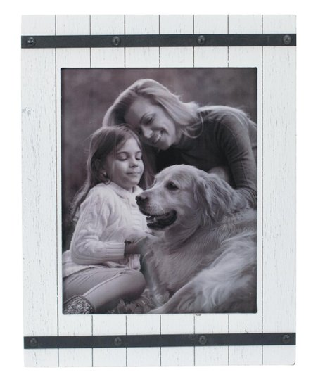 Foreside 8 X 10 White Distressed Austin Frame Zulily