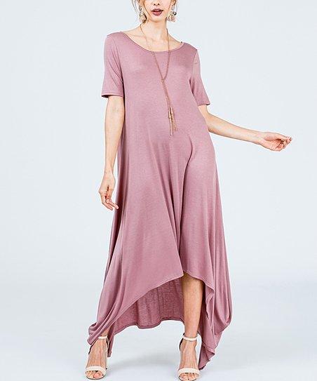 6ebecf66d1e love this product Mauve Crisscross-Back Maxi Dress