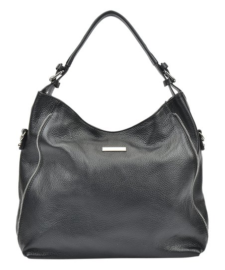 fa93d0924c love this product Nero Logo Plate Leather Hobo