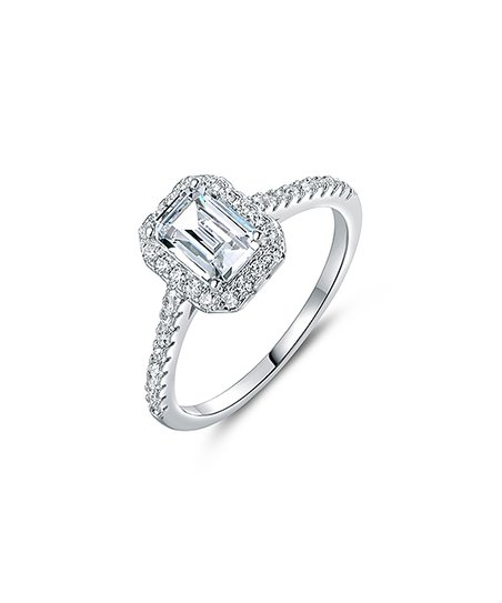 love this product Silvertone Emerald-Cut Ring With Swarovski® Crystals 15103abcb9