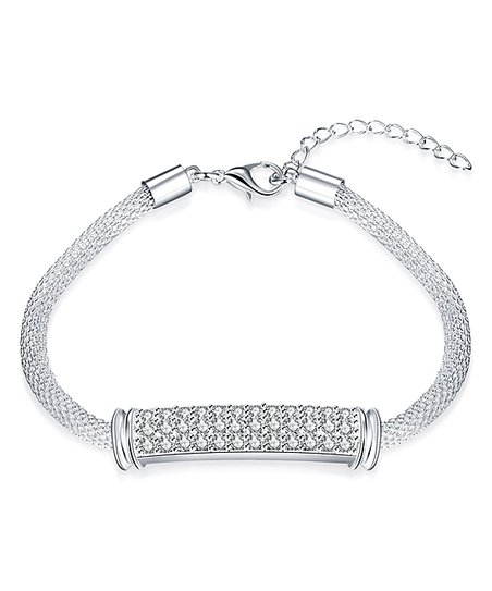 love this product Silvertone Bar Rope Bracelet With Swarovski® Crystals 26b40101e