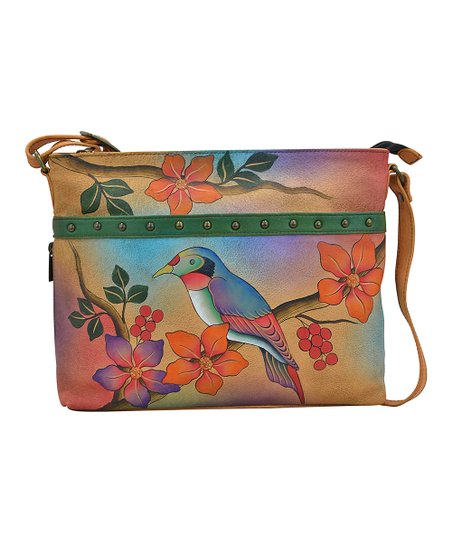 14d0e9d0fb9e Anna by Anuschka Bird On A Branch Organizer Hand-Painted Leather ...