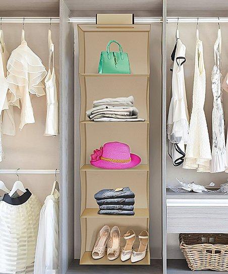 Five Shelf Storage Hanging Closet Organizer