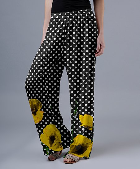Lounging All Day Floral Pants Yellow