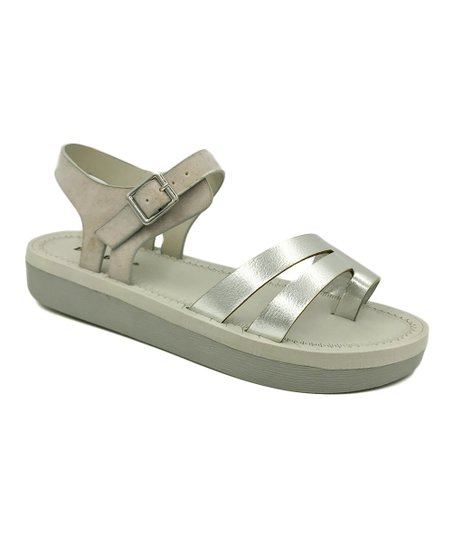 5f448a77b790 love this product Silver Upraise Double-Strap Sandal - Women