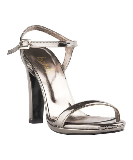 8ba802ec69ffc5 Bondy Footwear Gunmetal Classic Metallic Strappy Sandal - Women