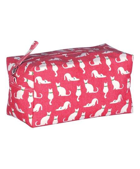 Rockflowerpaper Pink Cats Cosmetic Bag