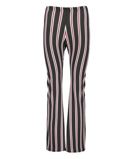 8e01507a6bb Absolute Angel Black   Wine Stripe Flare Pants