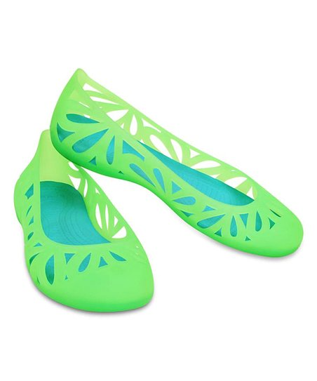 d5337a817 love this product Neon Green   Electric Blue Adrina III Flat - Women