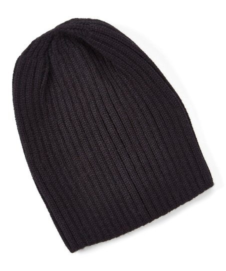 CoG Black Ribbed Beanie - Women  c4e8488b979