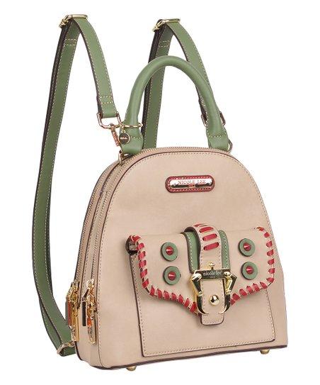 699dd068e036 Nicole Lee Beige Eleri Buckle Small Backpack