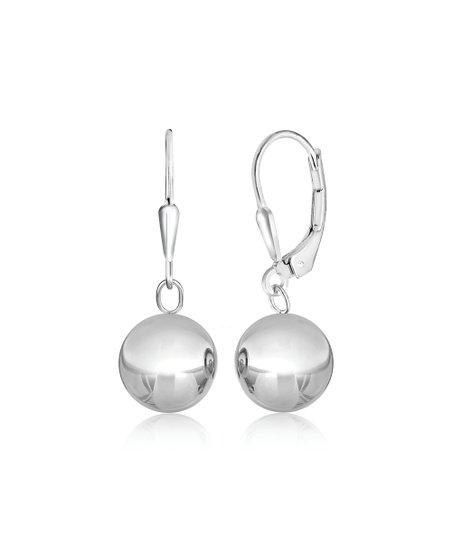31b7825dfc37d Sterling Silver 10 mm Ball Drop Earrings