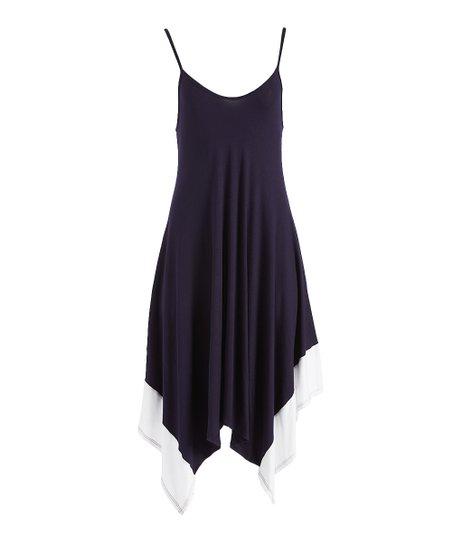 0d2701cd4a6 love this product Navy   White Handkerchief Dress - Women   Plus