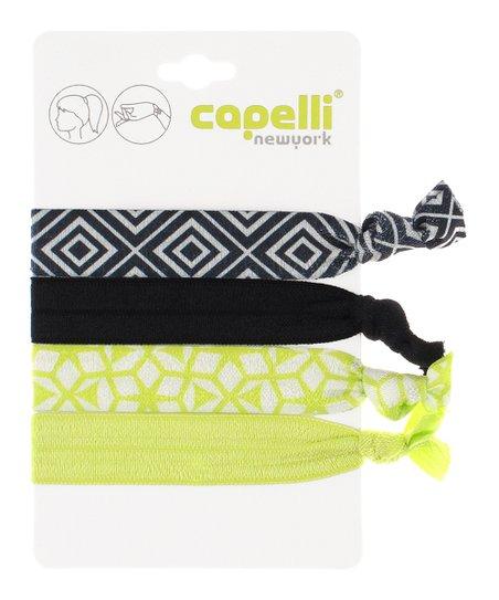 Capelli New York Yellow   Black Geometric Bracelet Hair Ties  99da38a4f8a