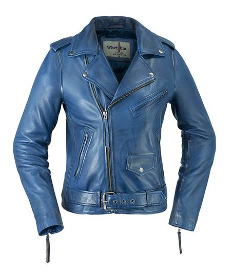 Whet Blu Navy Blue Crossover Leather Jacket Women Plus Zulily