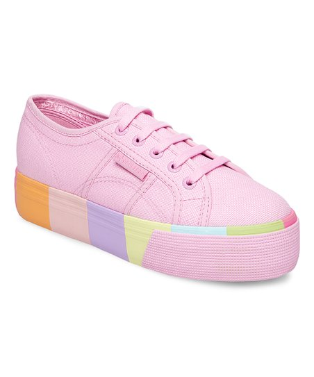 love this product Pink Rainbow-Platform Sneaker - Women