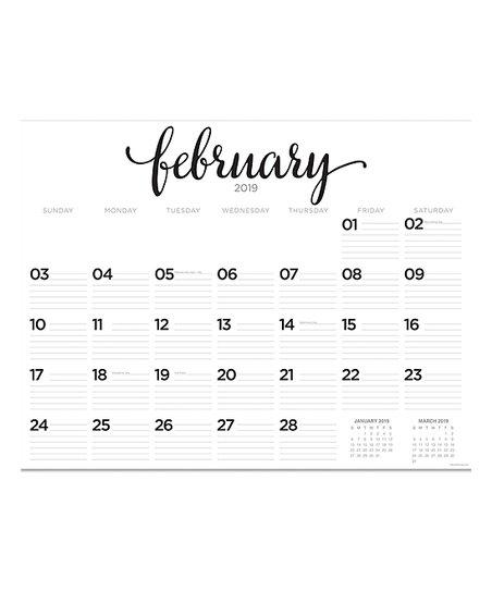 TF Publishing Farmhouse Script Desk Pad Large 22'' x 17'' Blotter 2019  Calendar