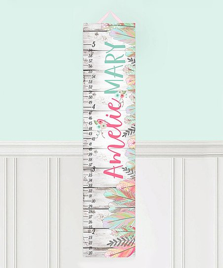 Love This Product White Feather Personalized Growth Chart
