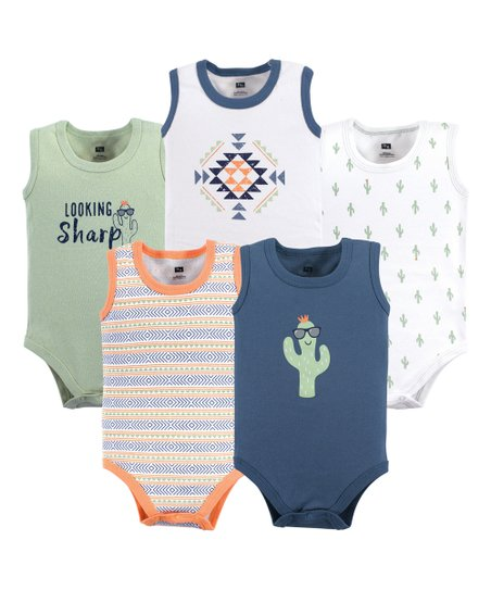 637678a8 love this product Sage & Blue Cactus Sleeveless Bodysuit Set - Newborn &  Infant