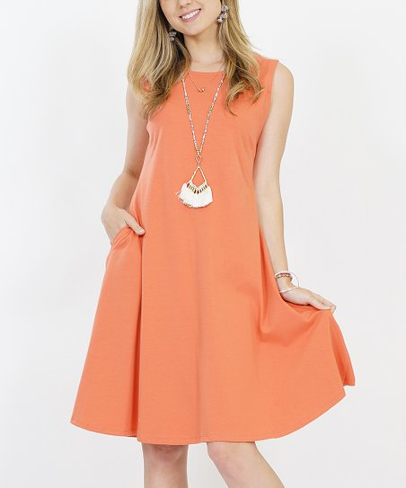 2531573f539d love this product Ash Copper Side-Pocket Swing Dress - Women