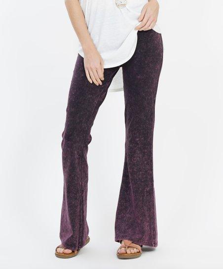 c94fce3b3f5e9 love this product Plum Fold-Over Waist Flare Yoga Pants - Plus