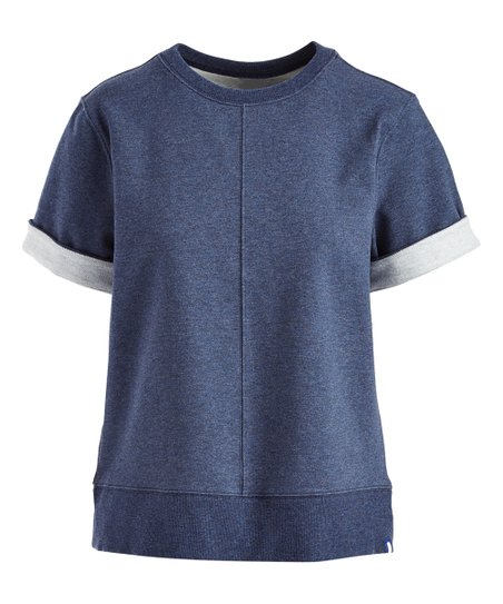 9d8f5f9b22734f Kit & Ace Heather Navy Moderne Stretch Pullover Sweater - Women | Zulily