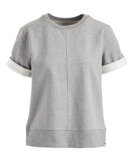 da94ccc7e0f5e4 Kit & Ace Heather Gray Moderne Stretch Pullover Sweater - Women | Zulily