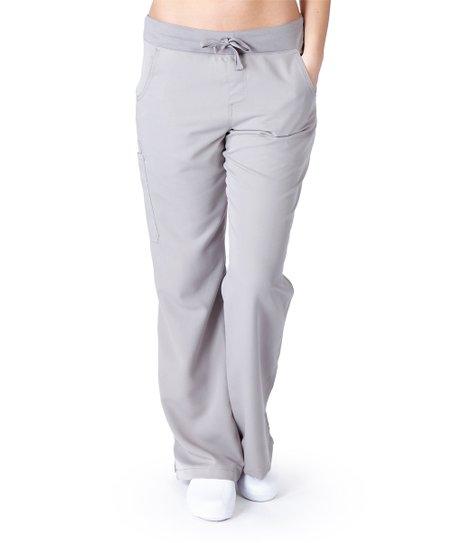3f6e63d909b Ultrasoft Scrubs Grey Yoga Scrub Pants - Women | Zulily