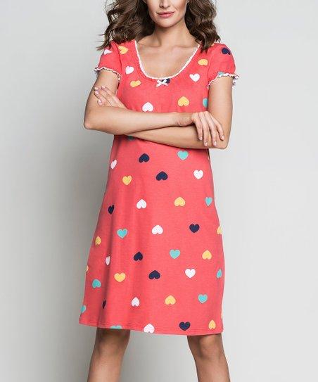 1c9daf9e789d love this product Raspberry Dot Rafena Sleep Dress - Women   Plus