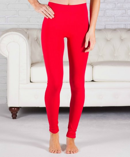 904c0b733aea7 Contagious Red Unlined Leggings - Women | Zulily