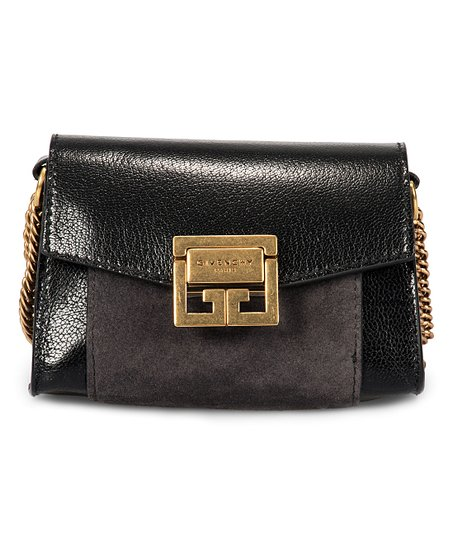fa57cf44814e Givenchy Black GV3 Nano Leather Convertible Crossbody Bag