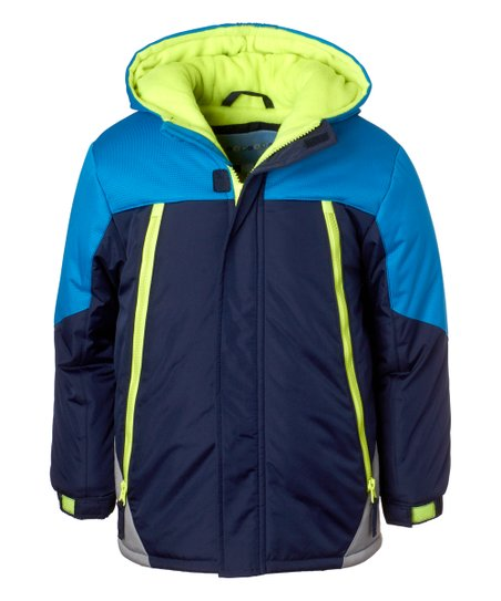 095aa5f28eae Wippette Navy   Lime Color Block Puffer Coat - Infant