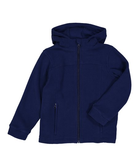 ad78290e0 The Earth Gear Navy Blue Polar Fleece Hooded Jacket - Toddler   Boys ...