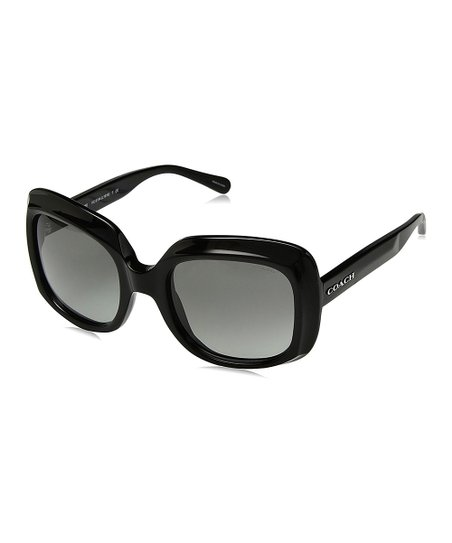 5af430e336 Coach Black   Gray Oversize Sunglasses