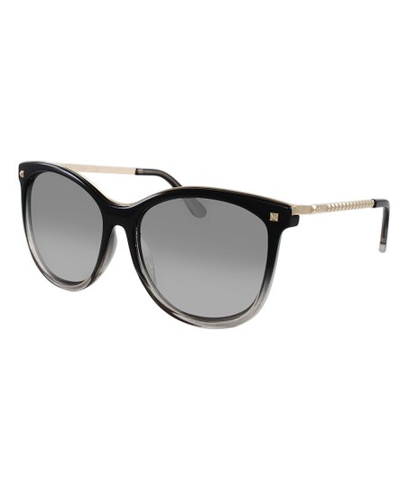 823ab81fb GUESS Black Gradient Oversize Cat-Eye Sunglasses - Women
