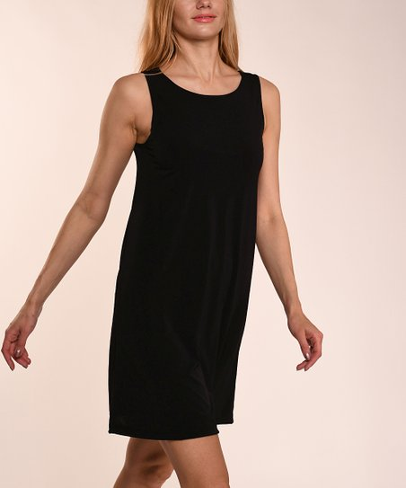 Lbisse Black Sleeveless Shift Dress Women Zulily