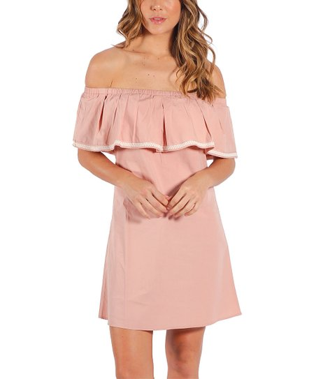 c5f60376b66e love this product Pale Pink Off-Shoulder Dress - Women